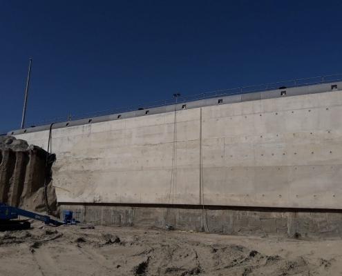 Nieuwe Zeesluis IJmuiden - Loos Betonreparaties